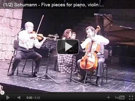 Five pieces for piano, violin & cello